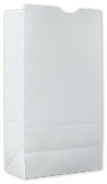 Food Service Waxed SOS Bags, White Kraft, 5x3 1/8x9 13/16