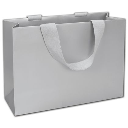 """Silver 5th Ave Euro-Shoppers, 12 1/2 x 4 1/2 x 9"""""""