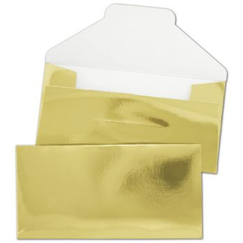 Gold Gift Certificate Envelopes, 3 1/4 x 6 1/2""