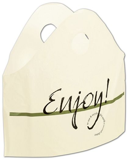 "Enjoy Print Wave Bags, 18 x 16 + 9"" Bottom Gusset"