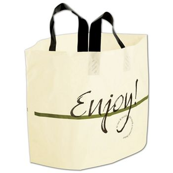 "Enjoy Print AmeritoteTM Bags, 19 x 12 + 9"" Bottom Gusset"