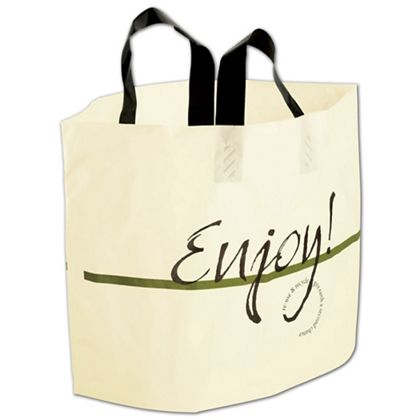 "Enjoy Print AmeritoteTM Bags, 19 x 12 + 9"" Bottom Gusset"