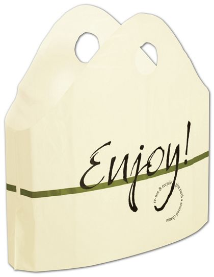 "Enjoy Print Wave Bags, 21 x 18 + 10"" Bottom Gusset"