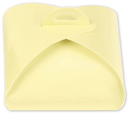 "Cream Truffle Totes, 4-Piece, 3 x 3 x 1 5/8"""
