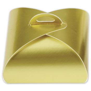 "Dusty Gold Truffle Totes, 4-Piece, 3 x 3 x 1 5/8"""