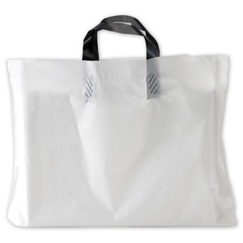 "White AmeritoteTM Food Service Bags, 21 x 10 x 13"""