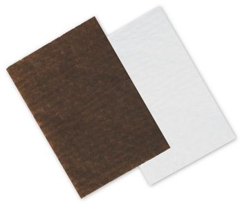 Brown/White Reversible Candy Tray Pads, 4 3/4 x 3 1/4