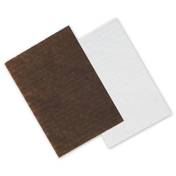 Brown/White Reversible Candy Tray Pads, 4 3/4 x 3 1/4""