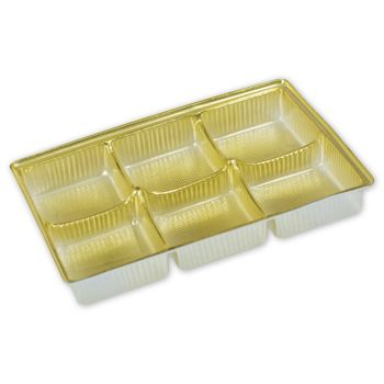 Gold Candy Trays, 4 1/2 x 3 x 5/8