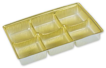 Gold Candy Trays, 4 1/2 x 3 x 5/8""
