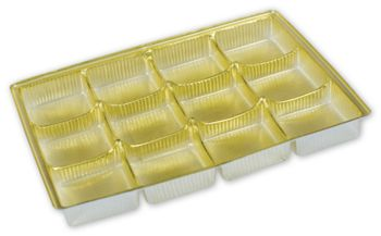 Gold Candy Trays, 6 1/8 x 4 1/2 x 5/8