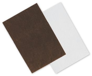Brown/White Reversible Candy Tray Pads, 9 5/16 x 6 3/16