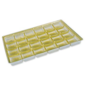 Gold Candy Trays, 9 1/4 x 6 1/8 x 5/8""