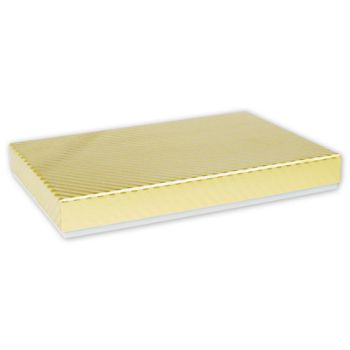Gold Decorative Candy Boxes, 9 1/2 x 6 3/8 x 1 3/16""