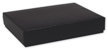 Quilted Black Decorative Candy Boxes
