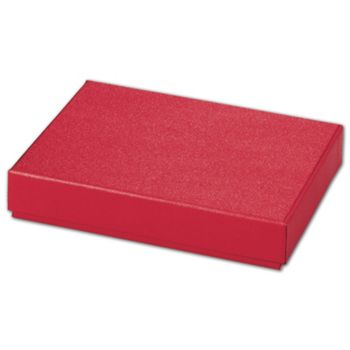 Red Sparkle Decorative Candy Boxes, 6 3/8 x 4 3/4 x 1 3/16