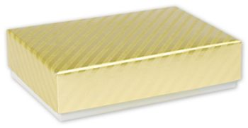 Gold Decorative Candy Boxes, 4 3/4 x 3 1/4 x 1 3/16