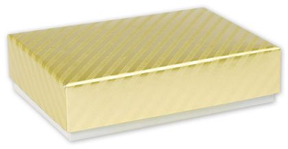 Gold Decorative Candy Boxes, 4 3/4 x 3 1/4 x 1 3/16""