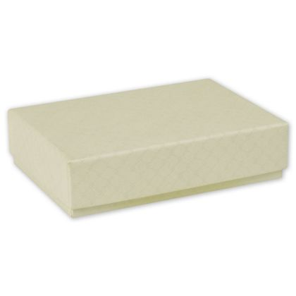Quilted Cream Decorative Candy Boxes