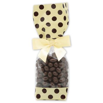Brown and Cream Cello Bags, 2 x 1 7/8 x 9 1/2