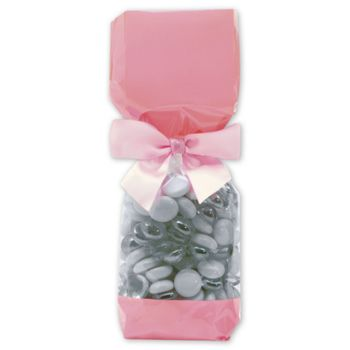 Pink Solid Band Cello Bags, 2 x 1 7/8 x 9 1/2