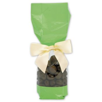 Green Solid Band Cello Bags, 2 x 1 7/8 x 9 1/2