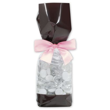 Brown Solid Band Cello Bags, 2 5/8 x 1 7/8 x 10 3/4