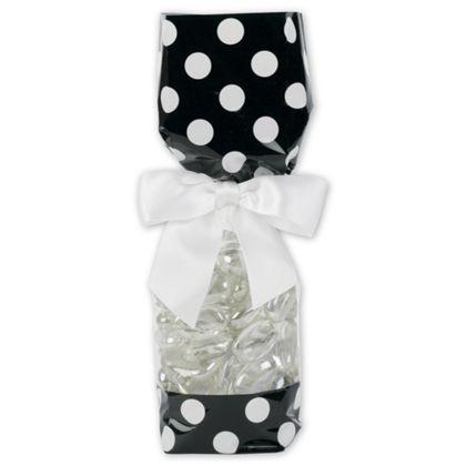 Black and White Cello Bags, 2 5/8 x 1 7/8 x 10 3/4