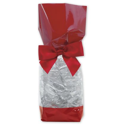 Red Solid Band Cello Bags, 2 5/8 x 1 7/8 x 10 3/4