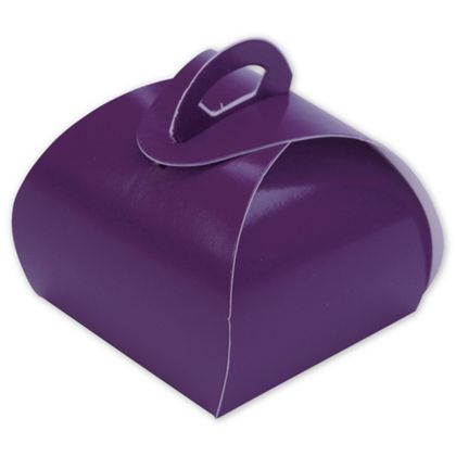 Purple Single Truffle Totes, 1 1/2 x 1 1/2 x 1 1/4""