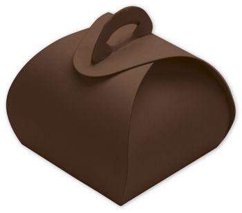 Brown Single Truffle Totes, 1 1/2 x 1 1/2 x 1 1/4