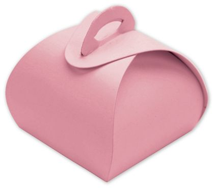 "Pink Single Truffle Totes, 1 1/2 x 1 1/2 x 1 1/4"""