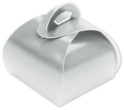 "Silver Single Truffle Totes, 1 1/2 x 1 1/2 x 1 1/4"""