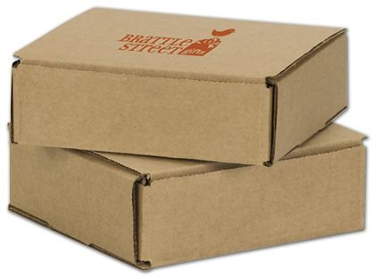 Kraft Mailers, 1 Color/1 Side Exterior, 6 x 6 x 2""