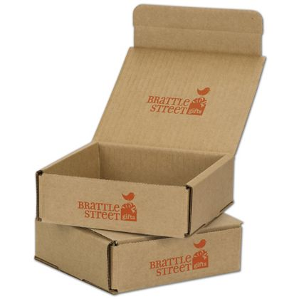 Kraft Mailers, 1 Color/Top Interior/1 Side Exterior, 6x6x2