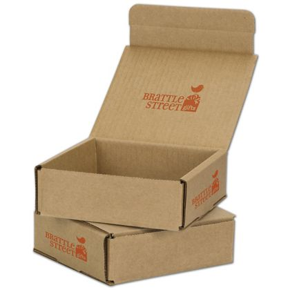 Kraft Mailers, 1 Color/Top Interior/2 Side Exterior, 6x6x2