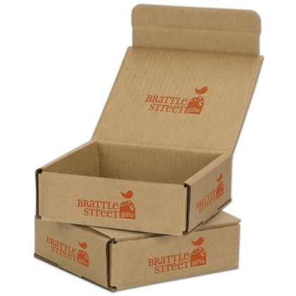 Kraft Mailers, 1 Color/Top Interior/5 Side Exterior, 6x6x2