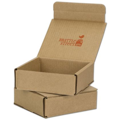 Kraft Mailers, 1 Color/Top Interior Side, 6 x 6 x 2""