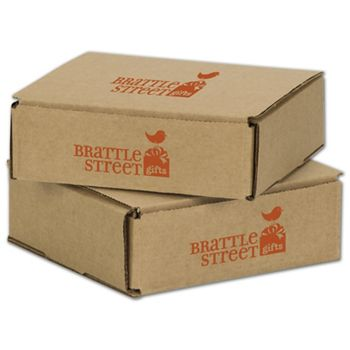 Kraft Mailers, 1 Color/2 Sides Exterior, 6 x 6 x 2