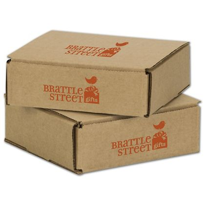 Kraft Mailers, 1 Color/2 Sides Exterior, 6 x 6 x 2""
