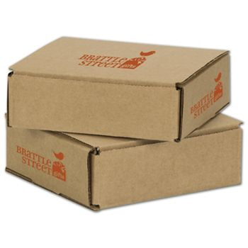 Kraft Mailers, 1 Color/3 Sides Exterior, 6 x 6 x 2""