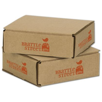Kraft Mailers, 1 Color/4 Sides Exterior, 6 x 6 x 2""