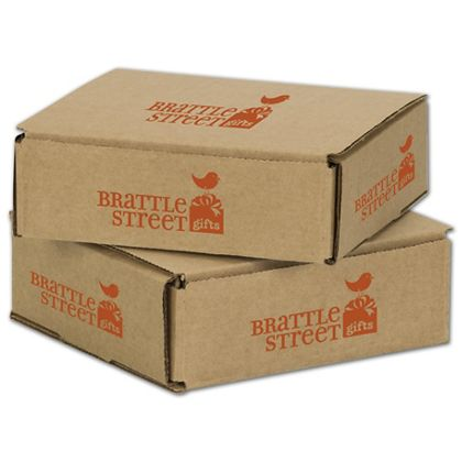 Kraft Mailers, 1 Color/5 Sides Exterior, 6 x 6 x 2""
