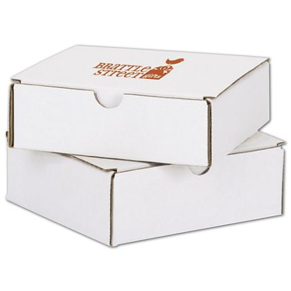 White Mailers, 1 Color/1 Side Exterior, 6 x 6 x 2""