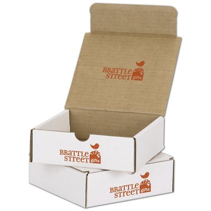 White Mailers, 1 Color/Top Interior/1 Side Exterior, 6x6x2