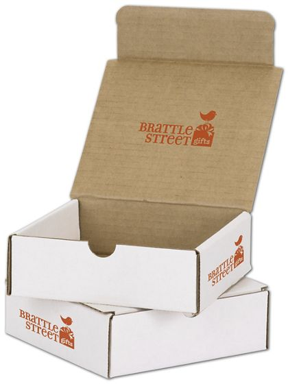 White Mailers, 1 Color/Top Interior/2 Side Exterior, 6x6x2