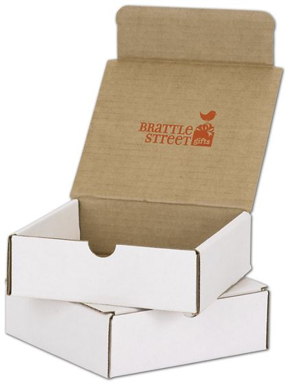 """White Mailers, 1 Color/Top Interior Side, 6 x 6 x 2"""""""