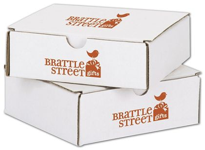 White Mailers, 1 Color/2 Sides Exterior, 6 x 6 x 2""