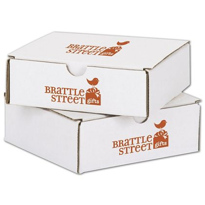 """White Mailers, 1 Color/2 Sides Exterior, 6 x 6 x 2"""""""