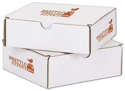 """White Mailers, 1 Color/3 Sides Exterior, 6 x 6 x 2"""""""
